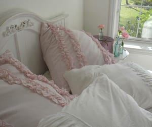 pink, bedroom, and soft image