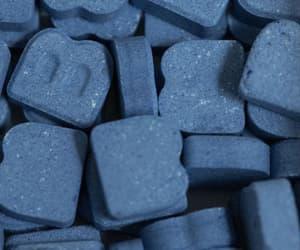 blue, drug, and emma stone image