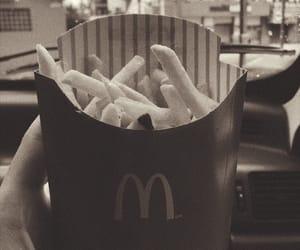 black, food, and fries image