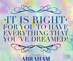 Abraham, Dream, and life image