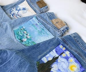 art, jeans, and paint image