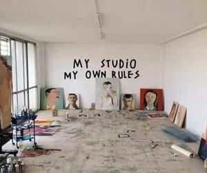 art, studio, and quotes image