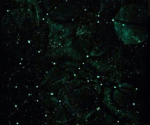 green, stars, and aesthetic image
