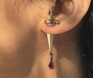 aesthetic, beauty, and earring image