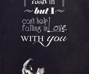 black & white, Elvis Presley, and falling in love image