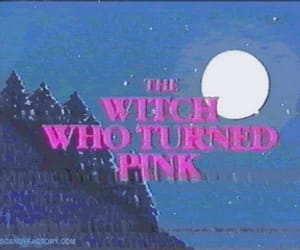 pink, witch, and cartoon image