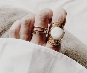 jewelry, ring, and pearl ring image