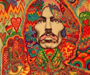 art, george harrison, and music image