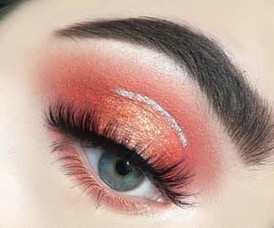 eyes, makeup, tumblr, pink, girl, glitter