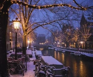 cozy, snow, and snowing image