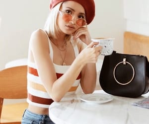 aesthetic, purse, and stripes image
