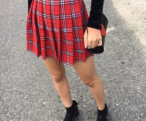 girl, grunge, and red image