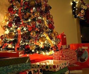 christmas, lights, and present image