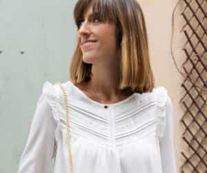 frills, white lace blouse, and ruffles image