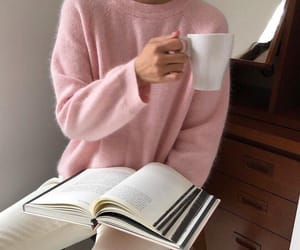 pink, book, and style image