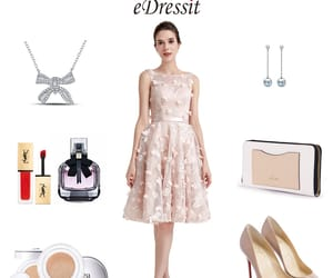 flowers, pink, and party dress image