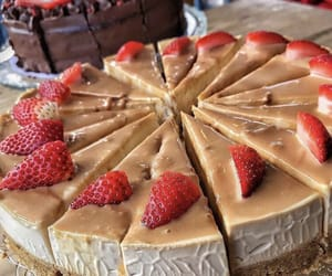 cake, caramel, and delicious image