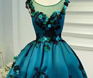 green prom dress, lace homecoming dress, and short prom dress image