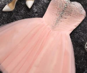 blush prom dress, prom dress short, and prom dress cheap image