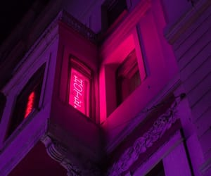 neon, aesthetic, and hotel image