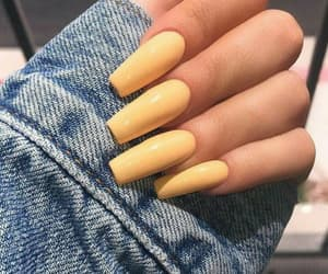 nails, yellow, and aesthetic image