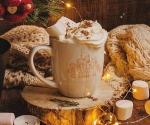 candles, christmas lights, and dessert image