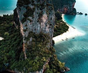 beach, green, and travel image