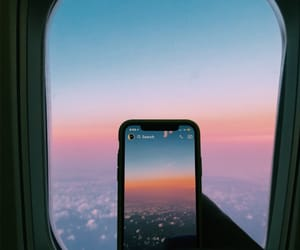 aesthetic, airplane, and airplane window image