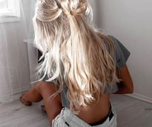 blonde, summer, and hair image