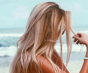 blonde, summer, and hair color image
