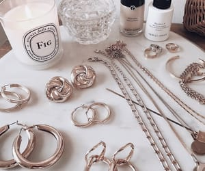 jewelry, necklace, and earrings image