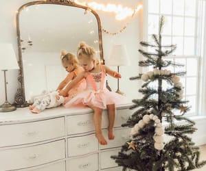 baby, christmas, and christmas lights image