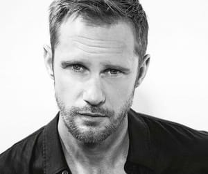 alexander skarsgard and black & white image