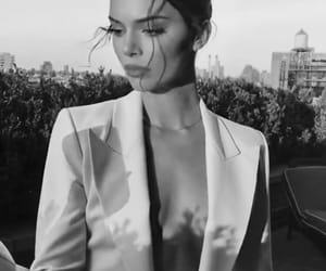 kendall jenner, model, and b&w image