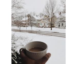 christmas, coffee, and nature image