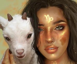 capricorn, zodiac, and art image
