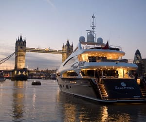 london, luxury, and yacht image