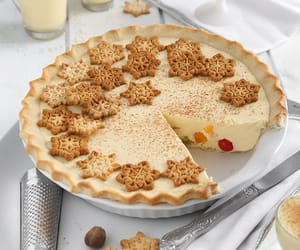 Eggnog Fruit Cocktail Pie