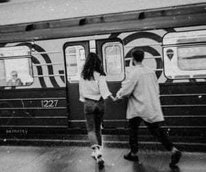 black and white and lovers image
