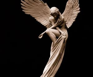 angel, art, and sculpture image