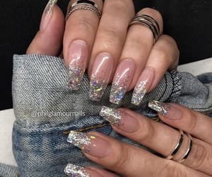 nails, glitter, and pretty image
