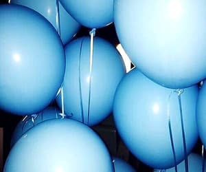 blue, balloons, and aesthetic image