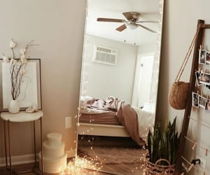 decor, light, and mirror image