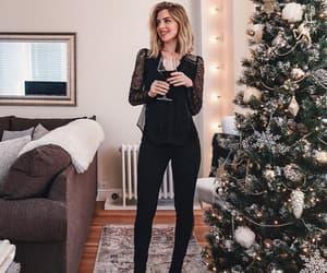 black, christmas, and tree image