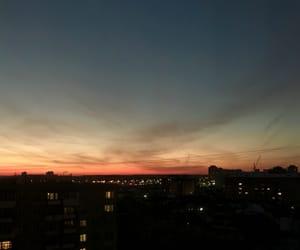 city, dark, and sunset image