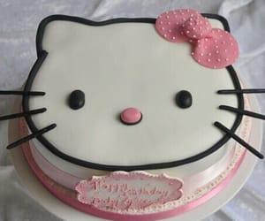 cake and hello kitty image