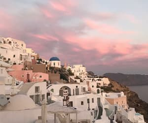 travel, Greece, and sky image
