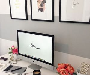 office, decor, and decoration image