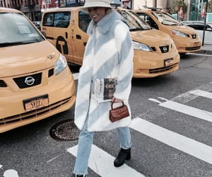 blue, fashion, and taxi image