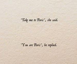 quotes, paris, and love image